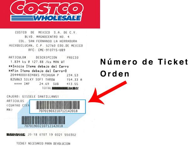 numero de ticket