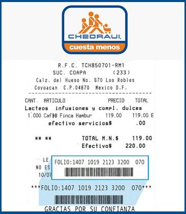 chedraui ticket