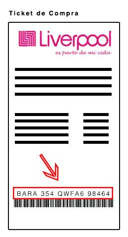 codigo de facturacion en ticket liverpool