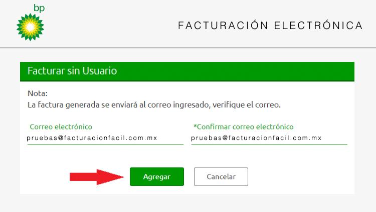 correo electronico facturacion