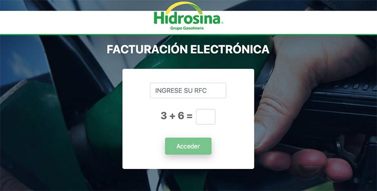 facturacion en linea hidrosina