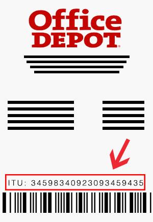 office depot ticket
