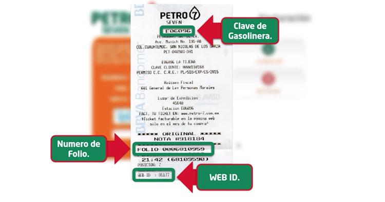 ticket facturacion petro 7