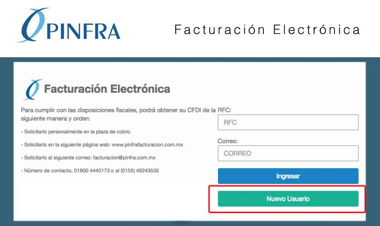 registro facturacion pinfra