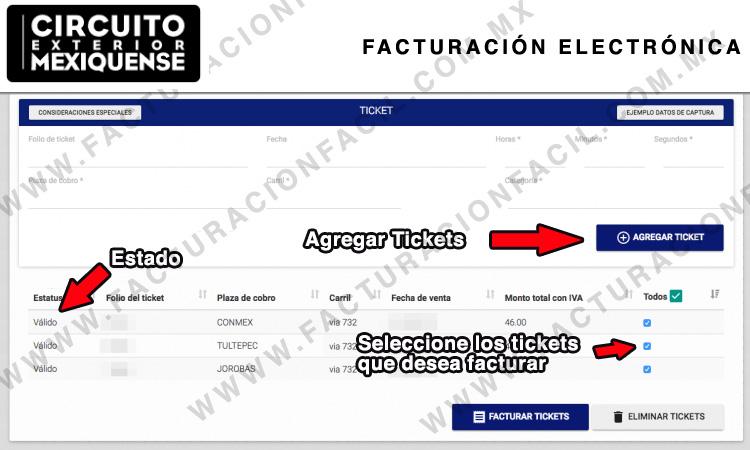 agregar tickets