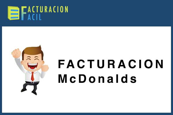 Facturacion McDonald's