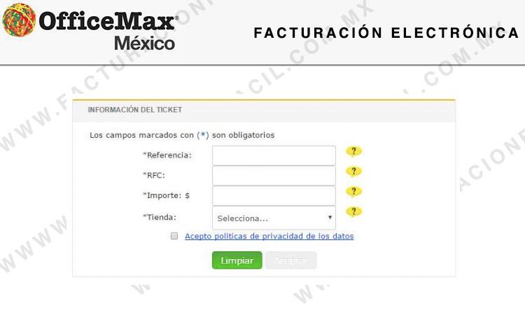 primeros datos de factruacion officemax