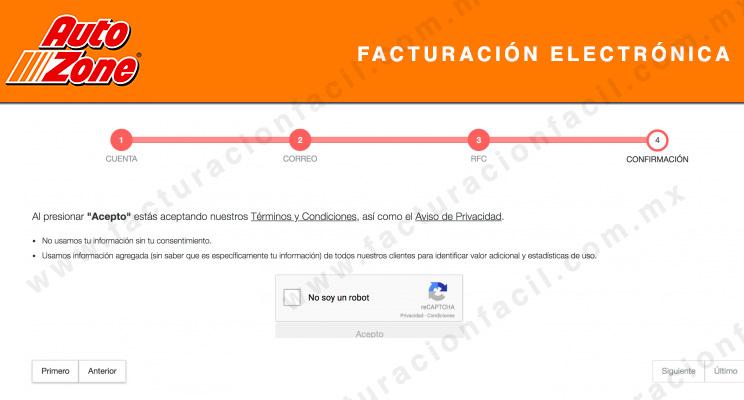validar registro facturacion autozone